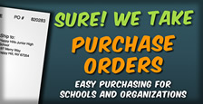 We Take Purchase Orders